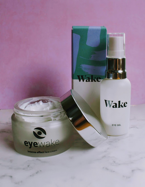 wake skincare face cream and eye gel