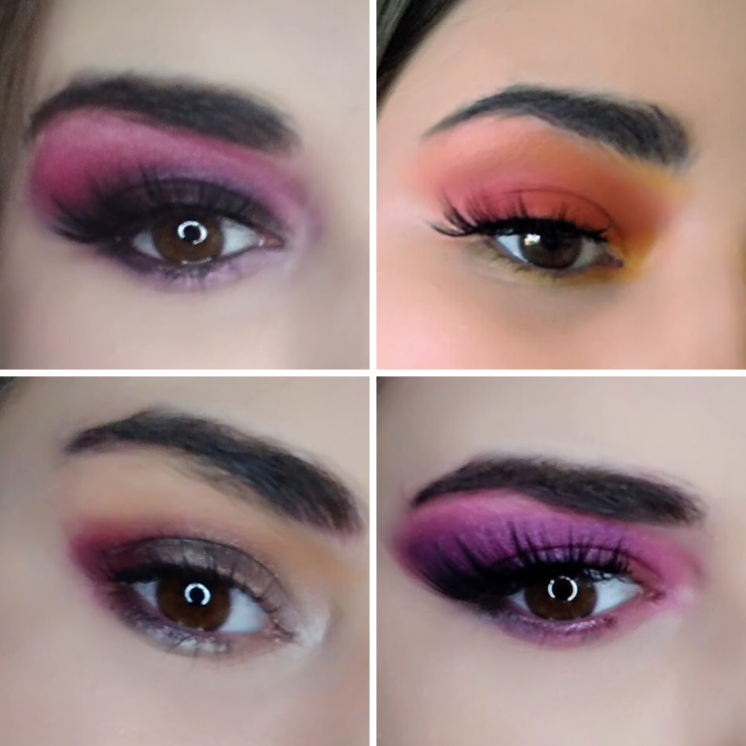 eyeshadow looks from Conspiracy palette