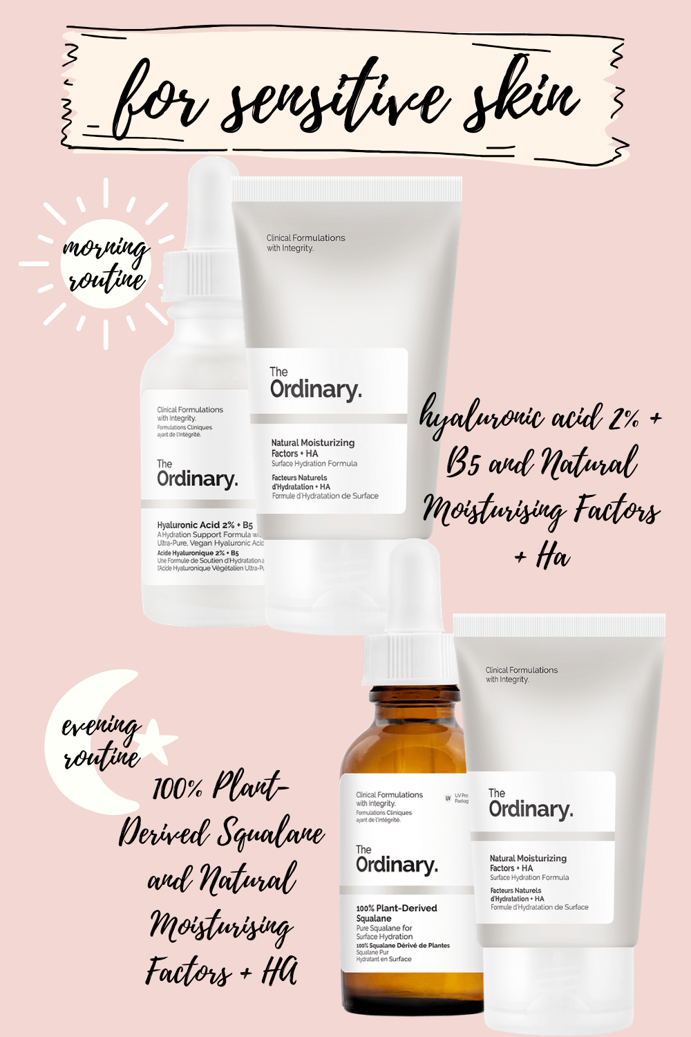 the ordinary skincare routine for sensitive skin