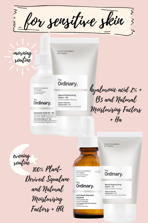 the ordinary skincare routine for sensitive skin
