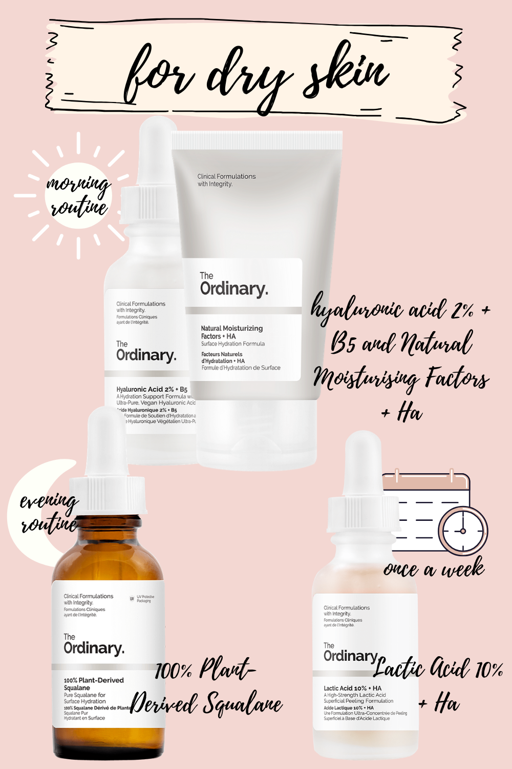 the ordinary skincare routine for dry skin