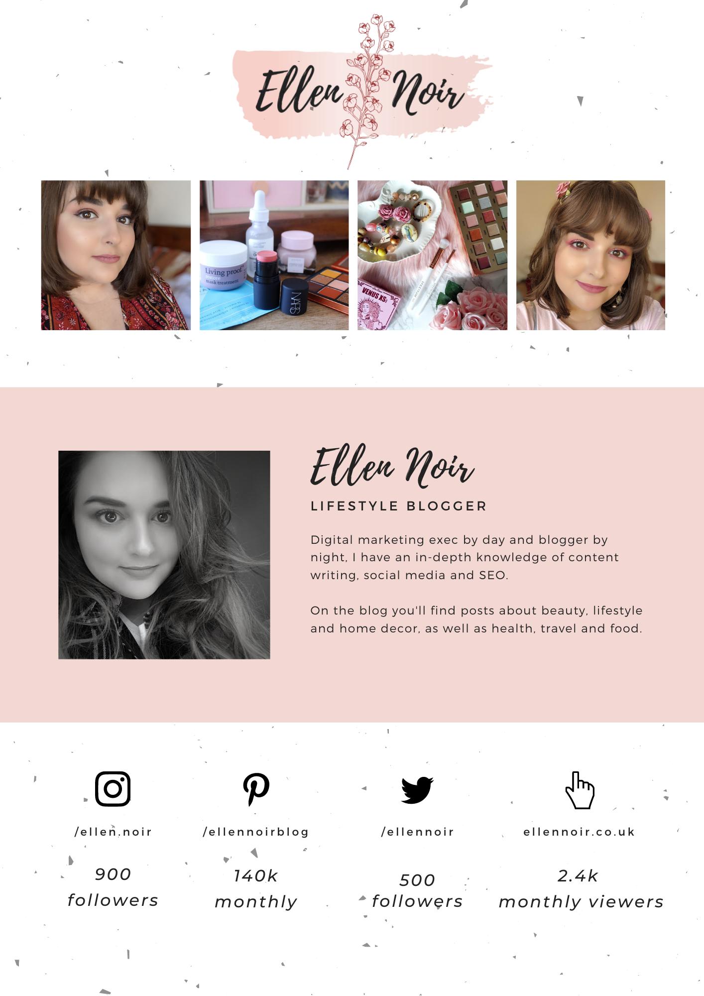 Ellen Noir Media Kit