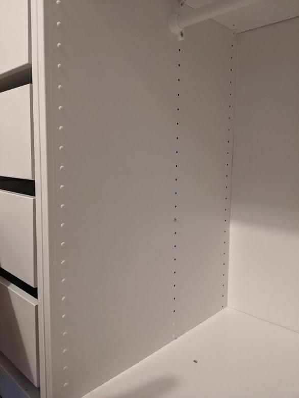 plastic caps for IKEA PAX holes