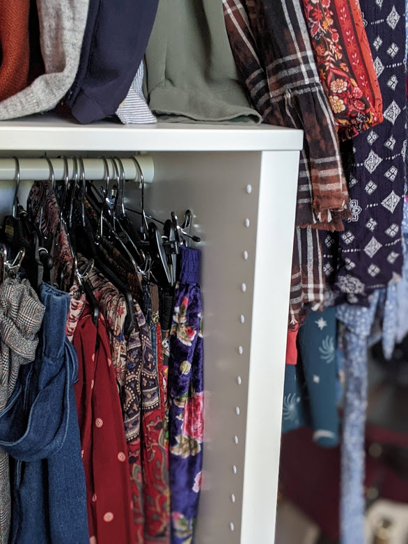 inside a customised IKEA PAX wardrobe
