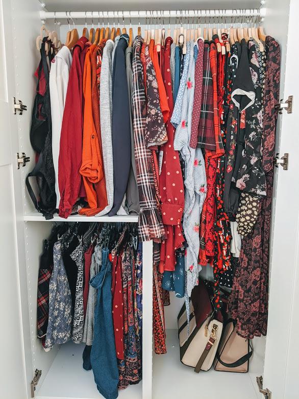 inside a PAX wardrobe
