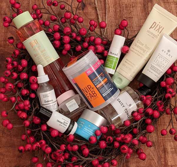 collection of skincare products