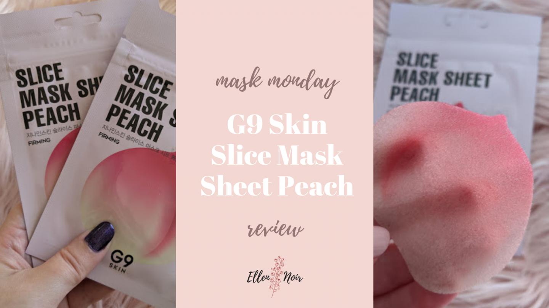 Mask Monday: G9 Skin Slice Mask Sheet Peach Review