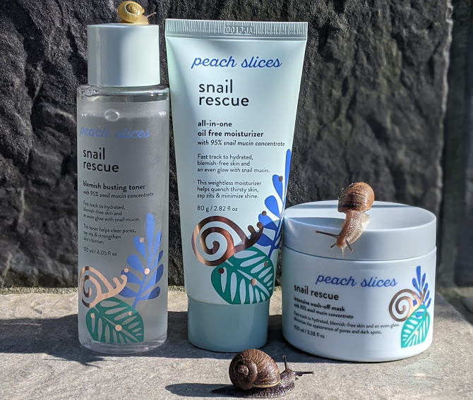 Peach and Lily Peach Slices Snail Rescue Review