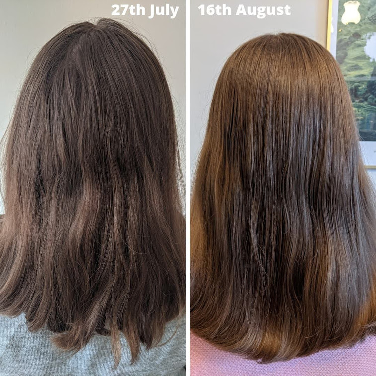 nineless hair transformation before and after